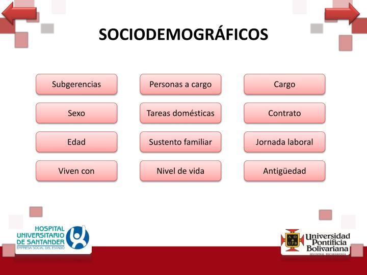 SOCIODEMOGRÁFICOS
