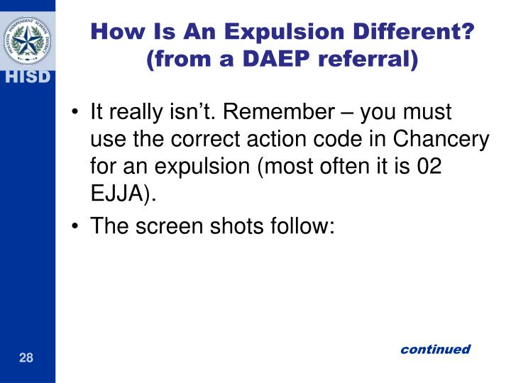 How Is An Expulsion Different?