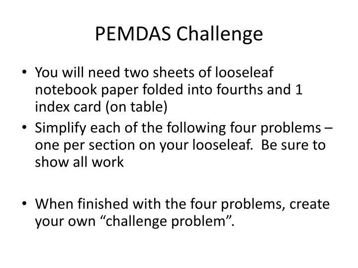 PEMDAS Challenge