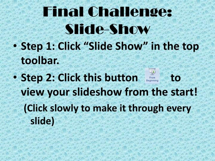 Final Challenge: