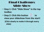 final challenge slide show
