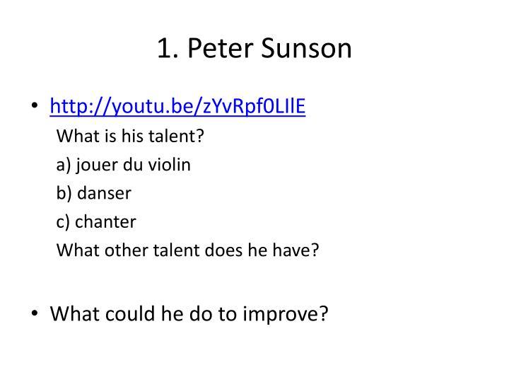 1. Peter