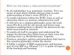 why do we need a philosophy charter