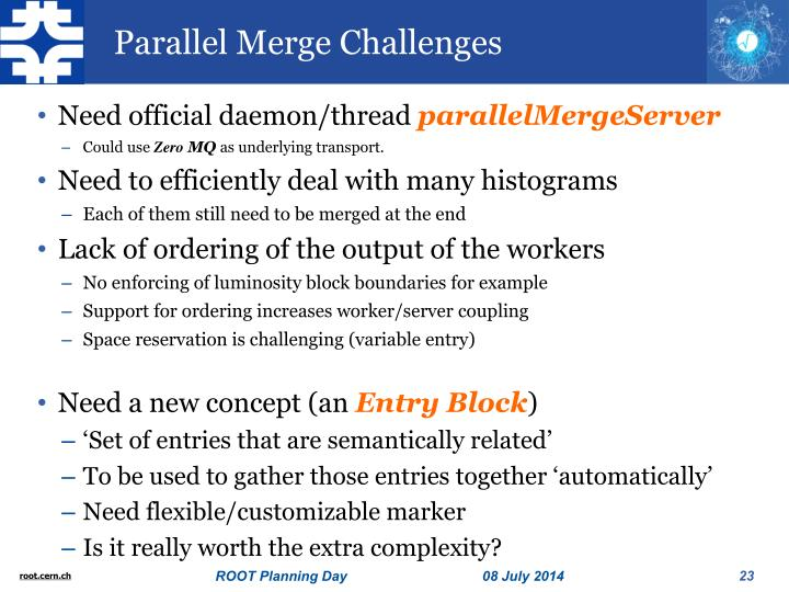 Parallel Merge Challenges