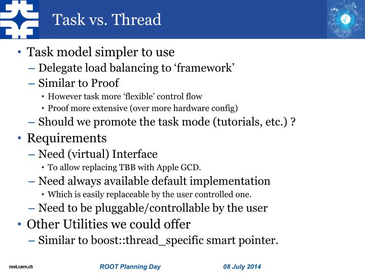 Task vs. Thread