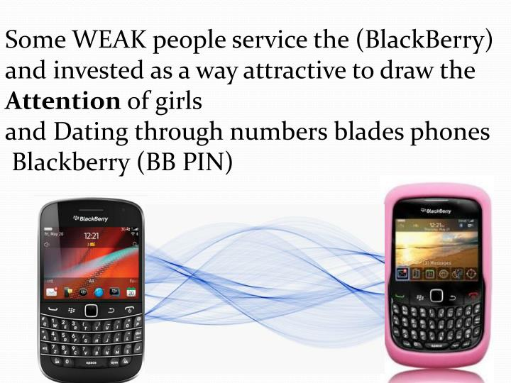 Some WEAK people service the (BlackBerry) and invested as a way attractive to draw the