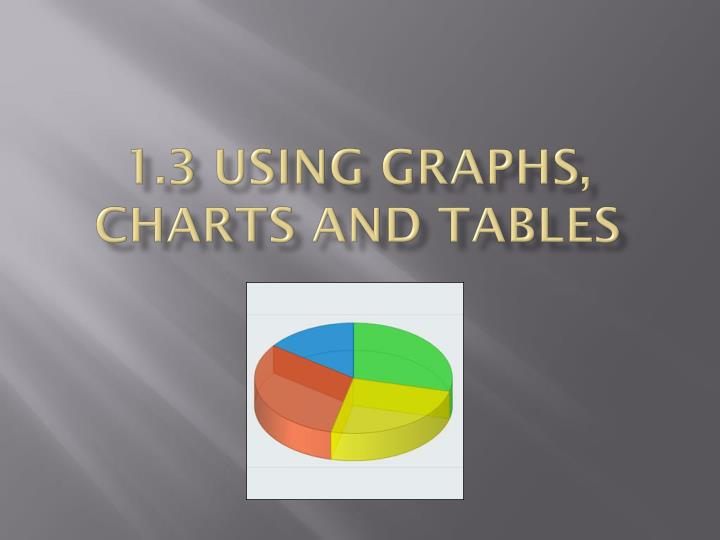 1 3 using graphs charts and tables