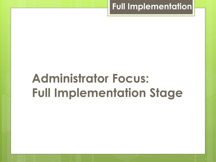 Full Implementation