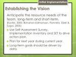 establishing the vision1