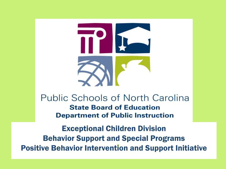 Exceptional Children Division