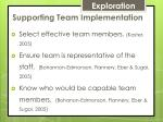 supporting team implementation