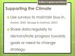 supporting the climate