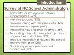 survey of nc school administrators