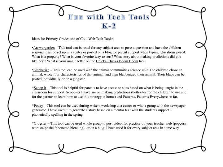 Fun with Tech Tools