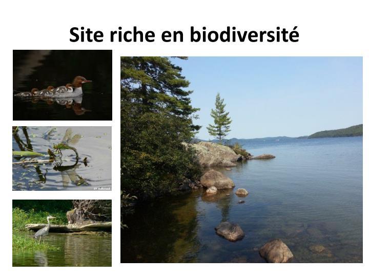 Site riche en biodiversité