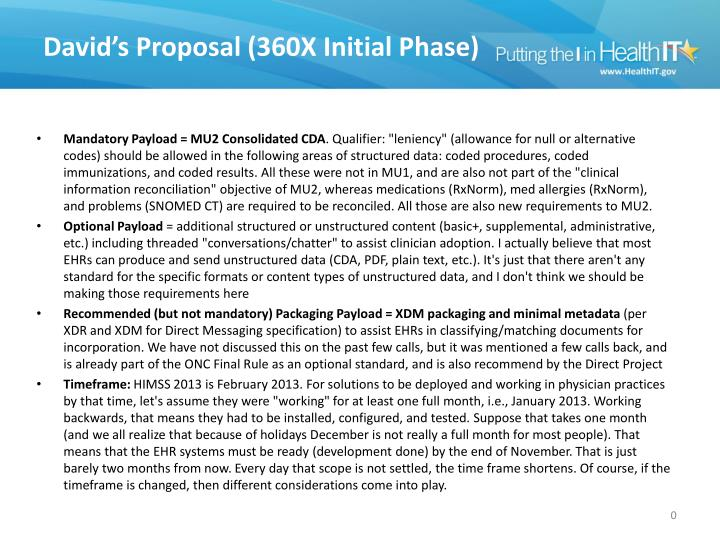 David s proposal 360x initial phase