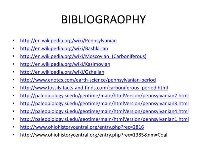 BIBLIOGRAOPHY