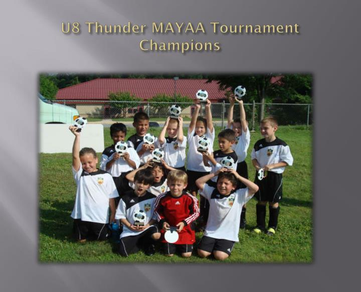 U8 thunder mayaa tournament champions