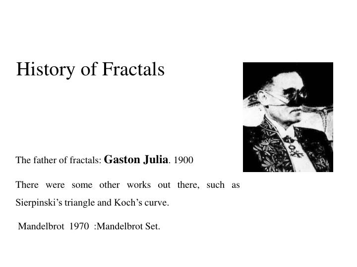 History of Fractals