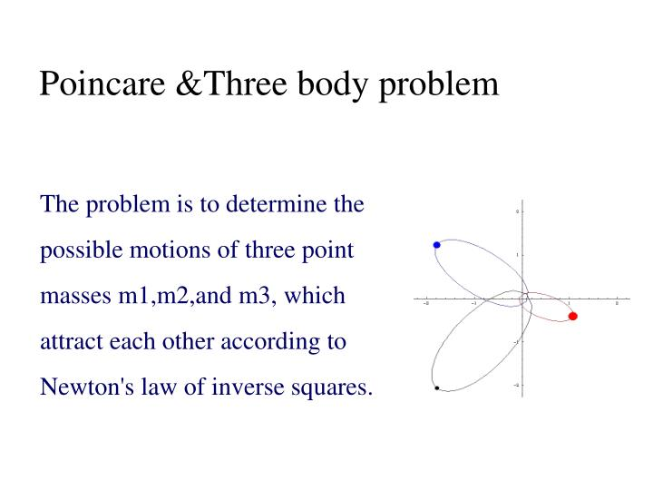 Poincare &Three body problem