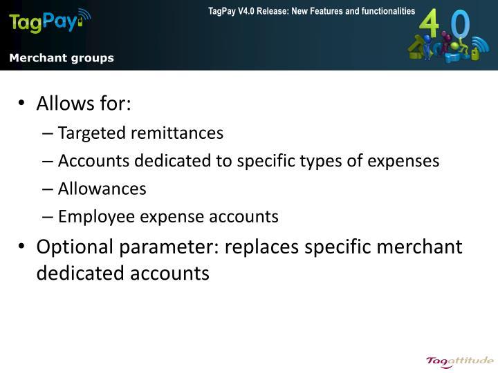 Merchant groups