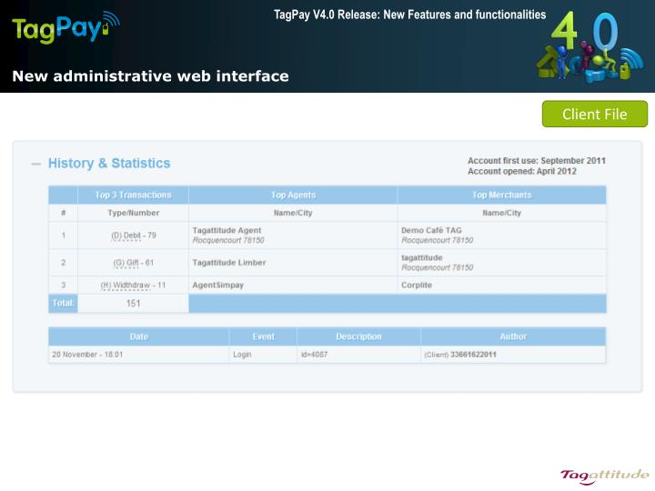 New administrative web interface
