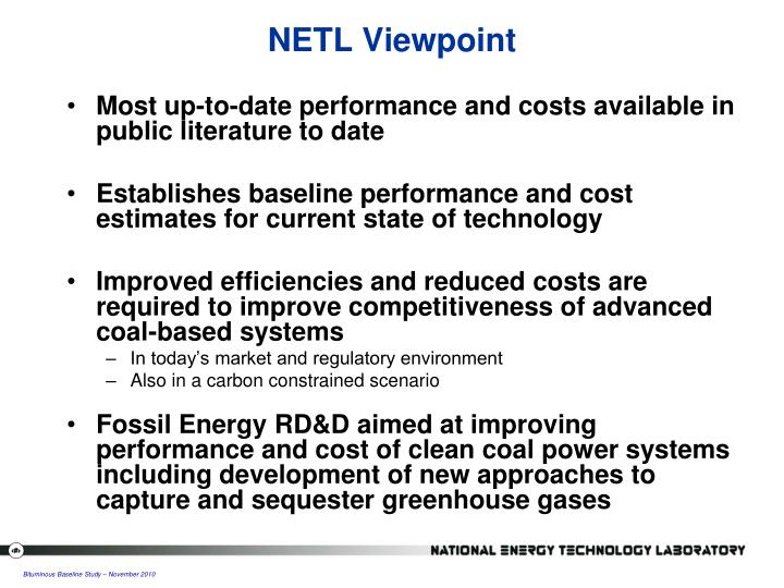 NETL Viewpoint