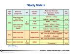 study matrix