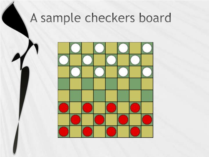A sample checkers board
