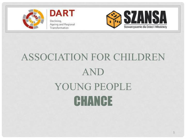 Association for children and young people chance