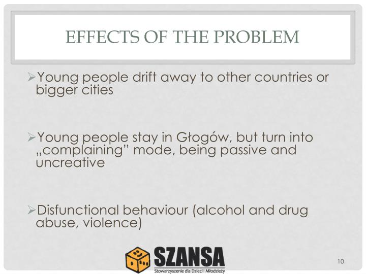 EFFECTS OF THE PROBLEM