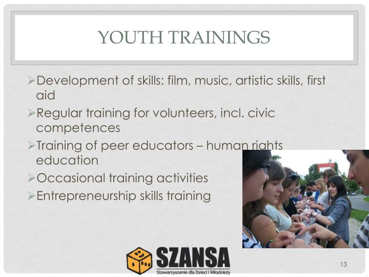 YOUTH TRAININGS