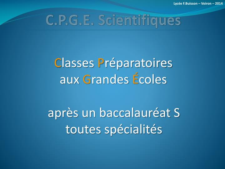 C p g e scientifiques1