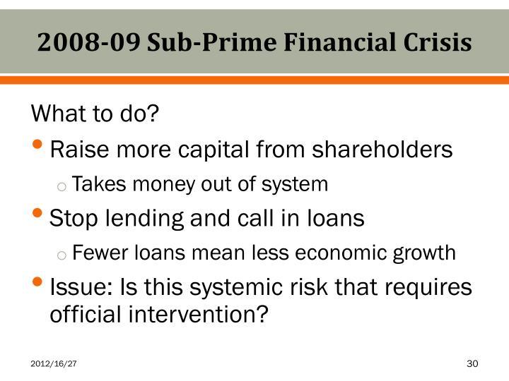 2008-09 Sub-Prime Financial Crisis