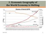 ii economic geography of the world economy is shifting