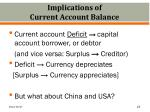 implications of current account balance