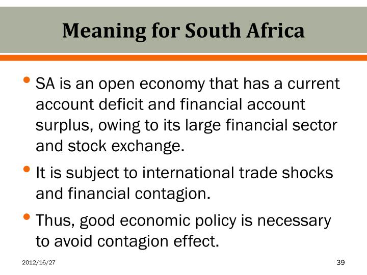 Meaning for South Africa