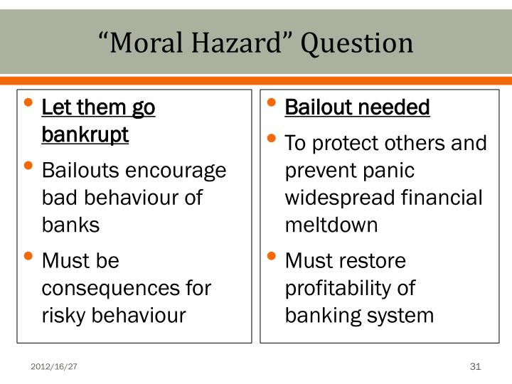 """Moral Hazard"" Question"