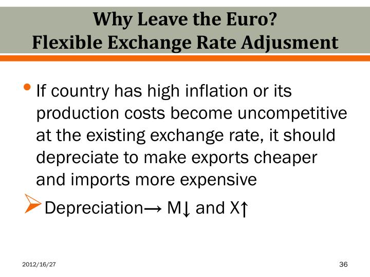 Why Leave the Euro?