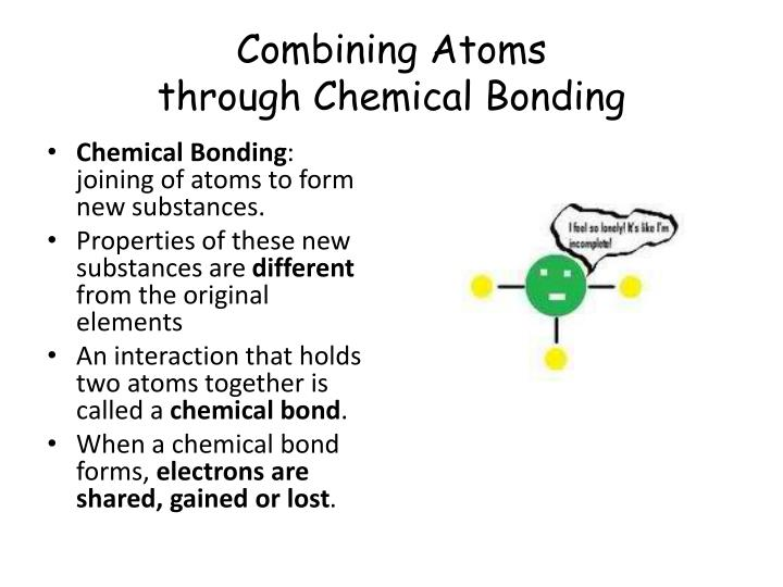 Combining Atoms