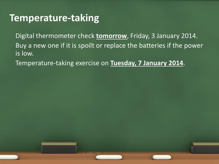 Temperature-taking
