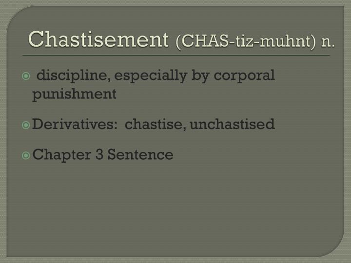 Chastisement
