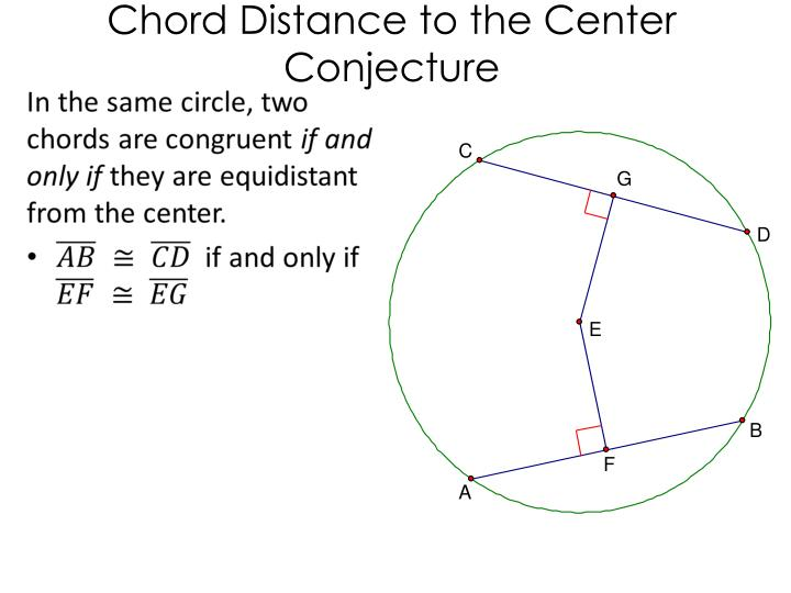 Chord Distance to the Center Conjecture