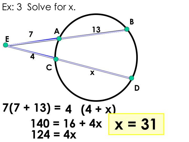 Ex: 3  Solve for x.