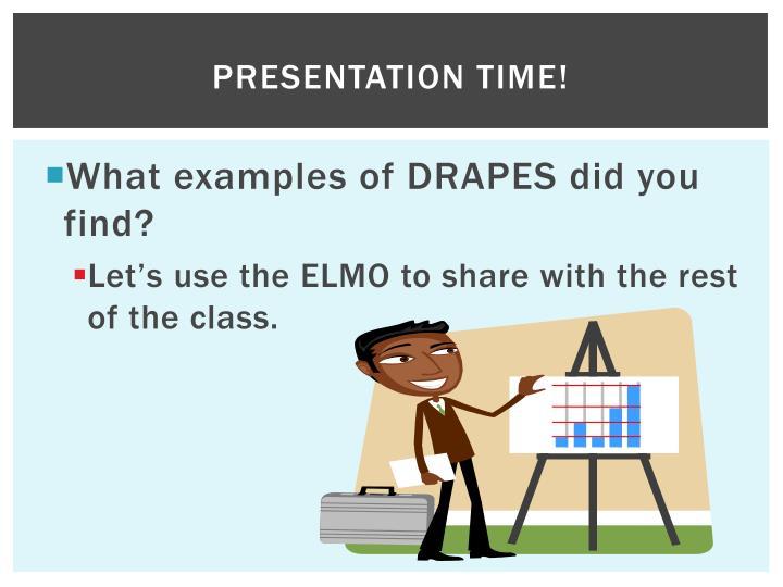 Presentation Time!