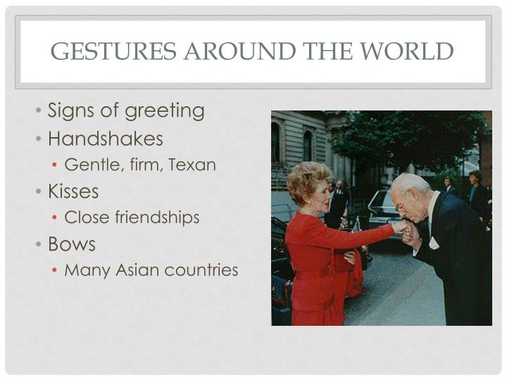 Gestures around the world