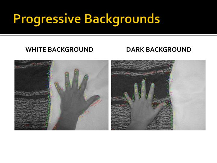 Progressive backgrounds