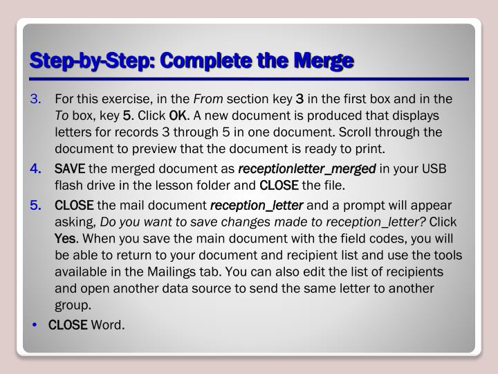 Step-by-Step: Complete the Merge