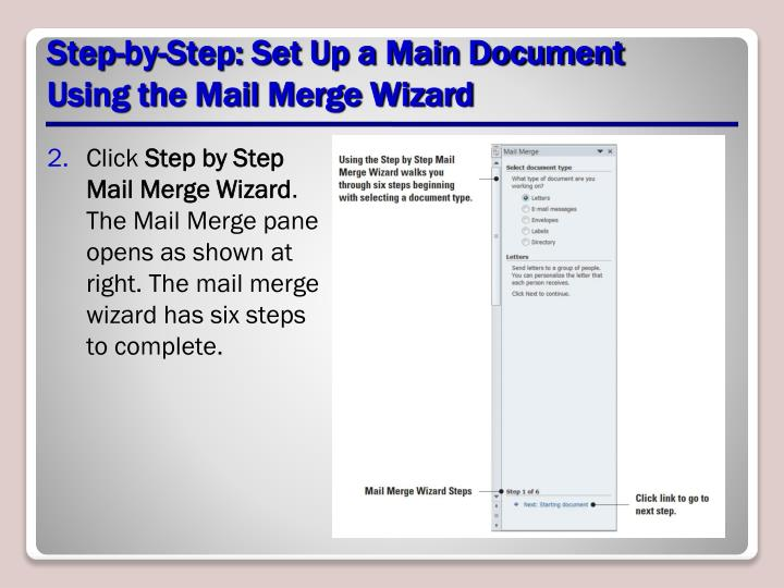 Step-by-Step: Set Up a Main Document