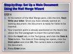 step by step set up a main document using the mail merge wizard10